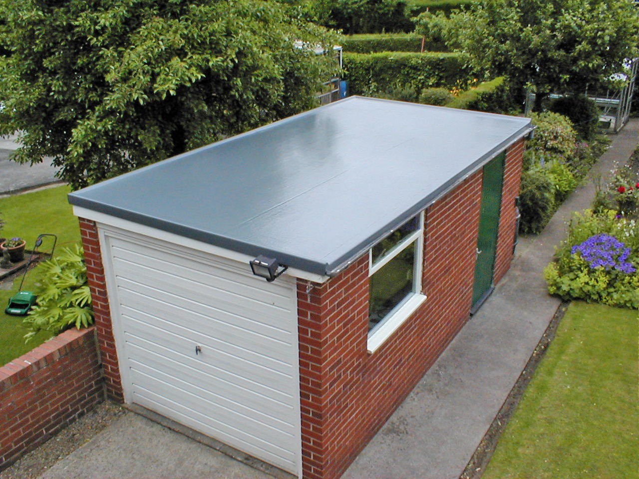 Performance metal roofing flat roofing me and for Garage cupola