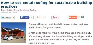 how to use metal roofing for sustainable building practices image